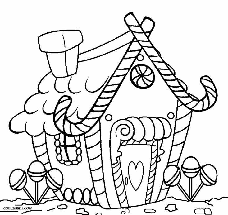 Interesting Decoration Gingerbread House Coloring Page Free