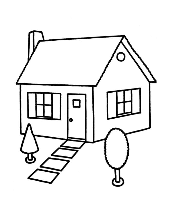 Extraordinary Inspiration Coloring Pages Of Houses 41 Page House 3
