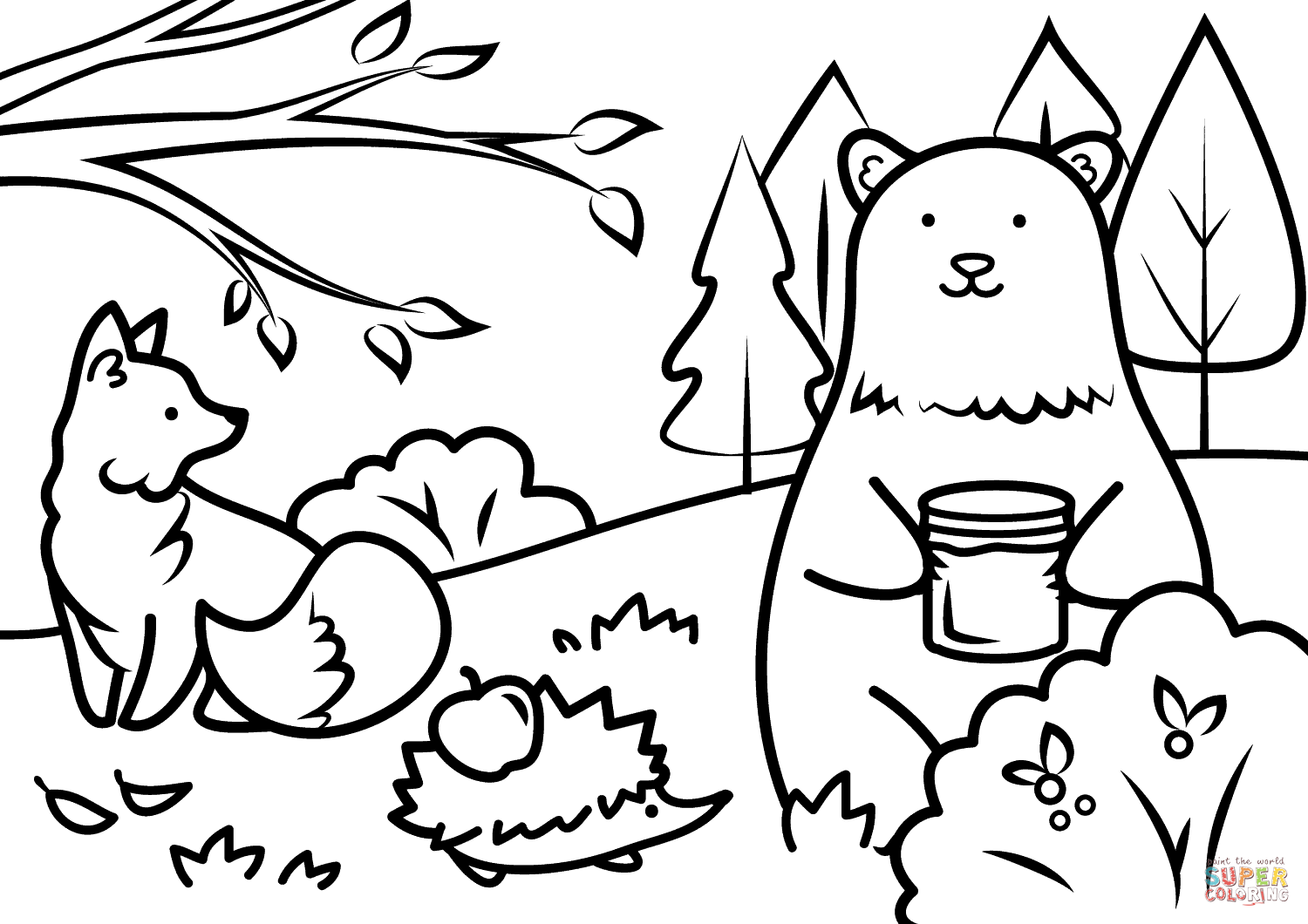 Fall Coloring Pages For Kids Free Bloodbrothers Me Within