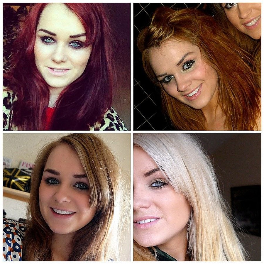 Fascinating Red Hair Coloring From To Blonde Luxury The Image For