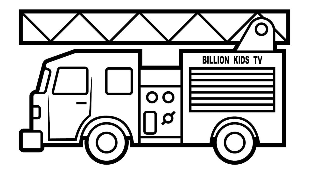 Fire Truck Coloring Pages Vehicles Video With Colors For Kids