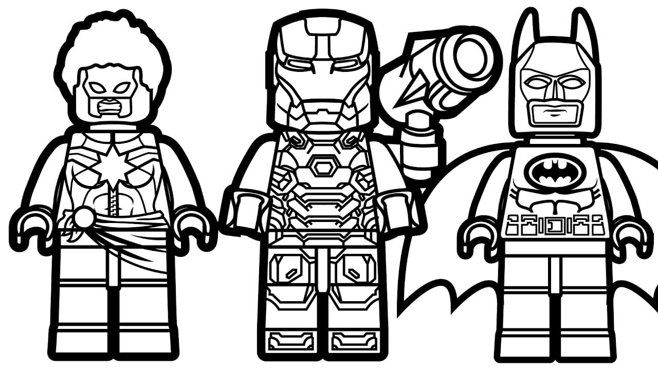 First Class Lego Marvel Coloring Pages Batman Vs Captain War