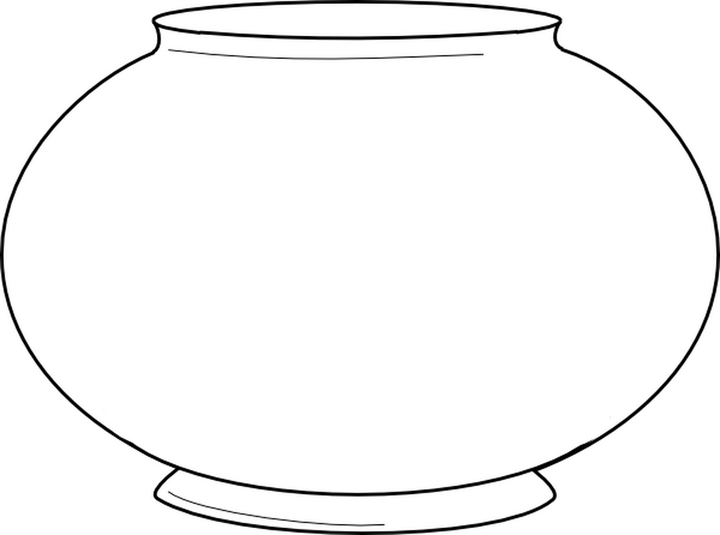 Fish Bowl Coloring Page - NEO Coloring