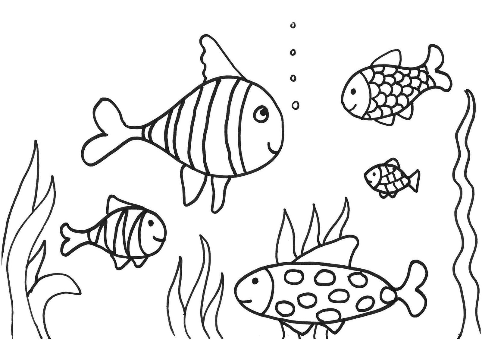 Fish Coloring Pages Underwater Coloringstar Best Of Childlife Me