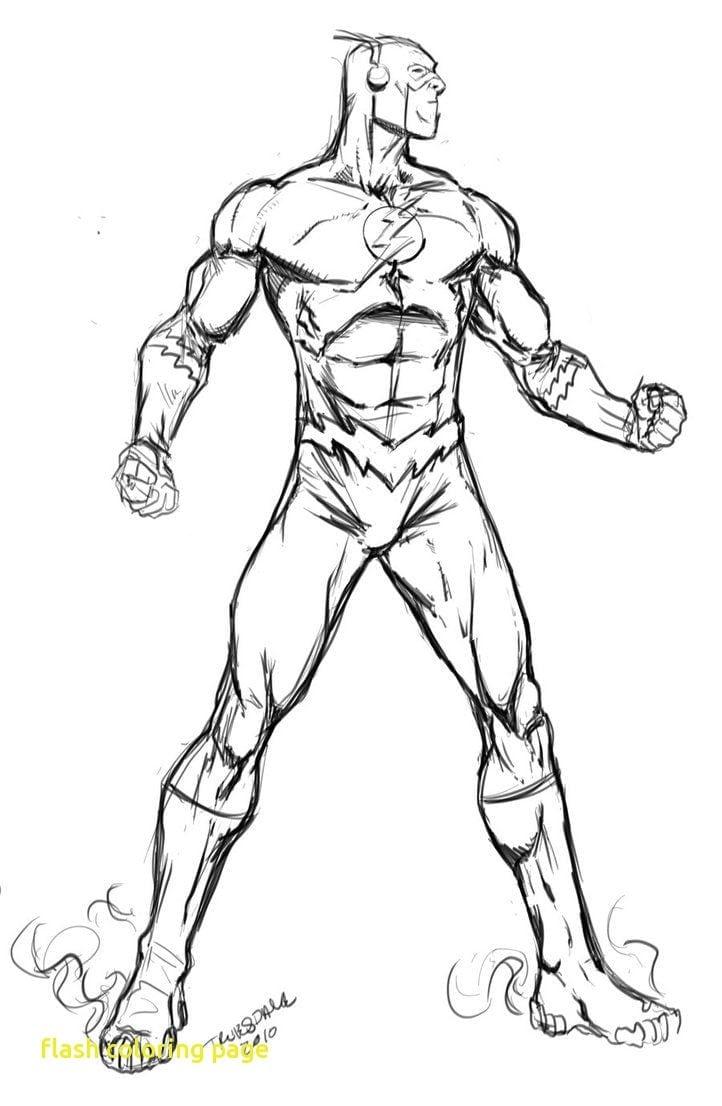 Flash Coloring Page With The Flash Running Coloring Pages