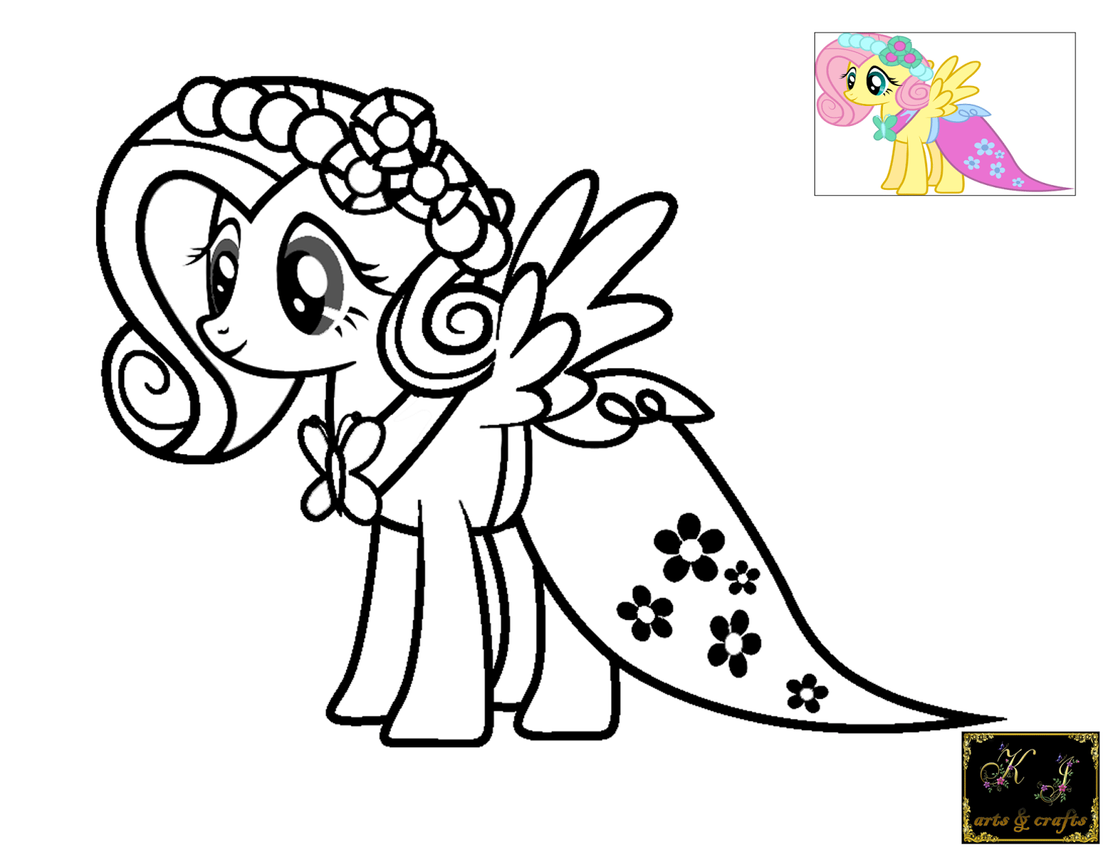 Fluttershy Coloring Pages Kj In
