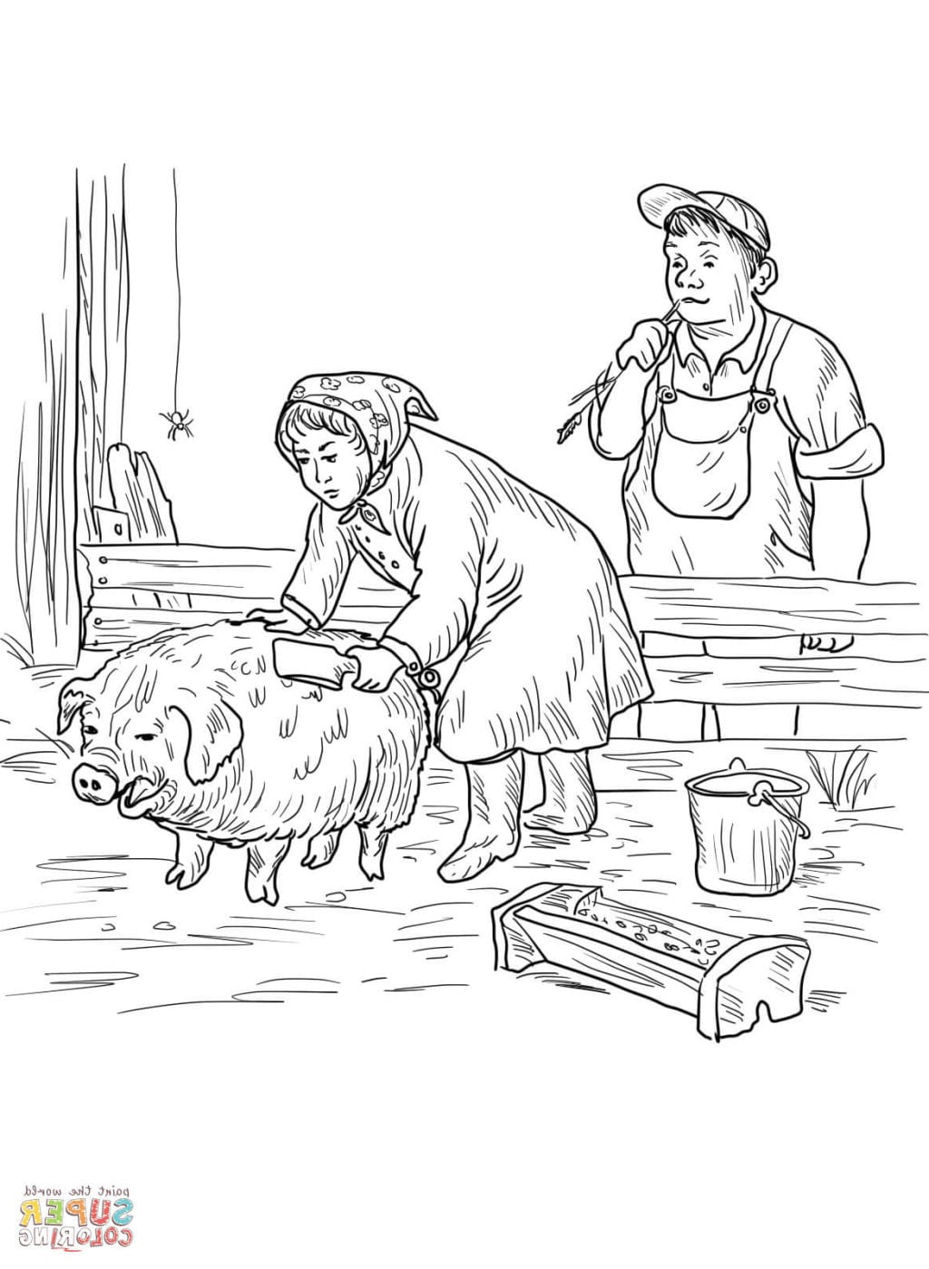 Focus Charlotte S Web Coloring Pages Charlottes Free Full Size
