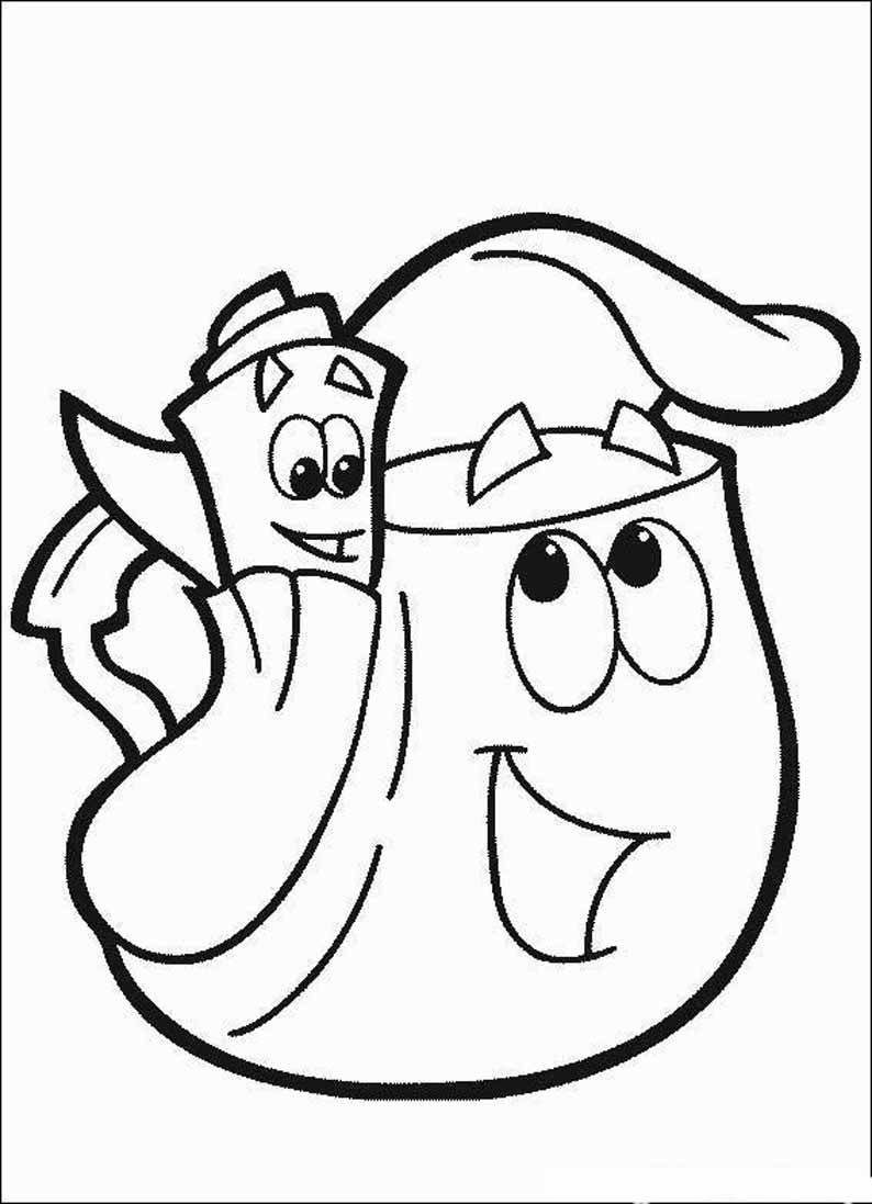 Fortune Backpack Coloring Sheet Page 11723  7156