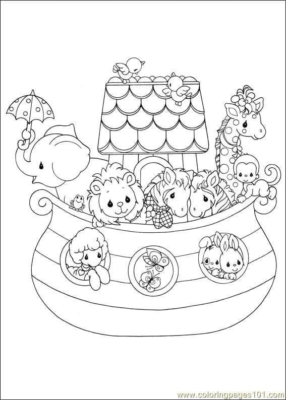 Free Children Coloring Pages Of Noah Ark Theme For Baby Free