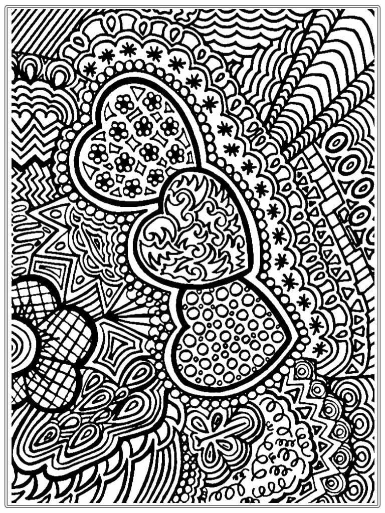 Free Coloring Pages Adults Art And Abstract Category Image 5
