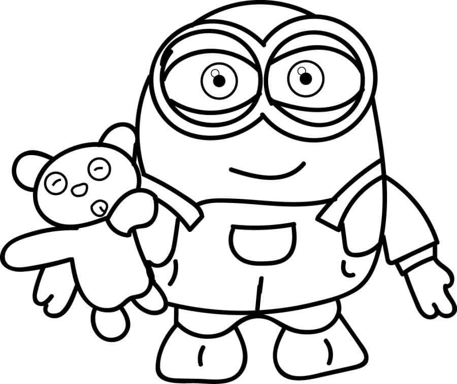 Free Minion Coloring Pages 2  8667