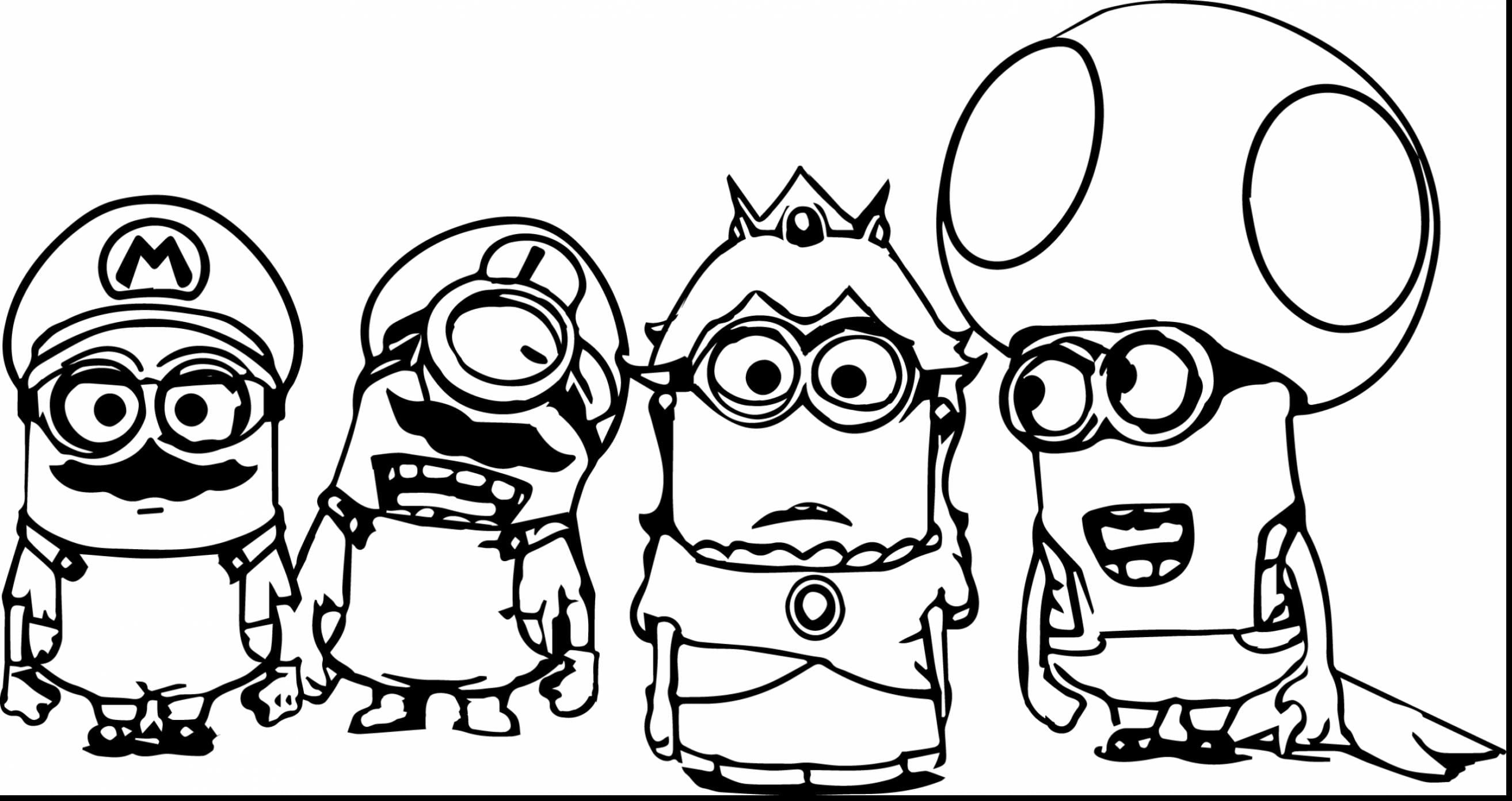 Free Minion Coloring Pages Magnificent Printable With Throughout