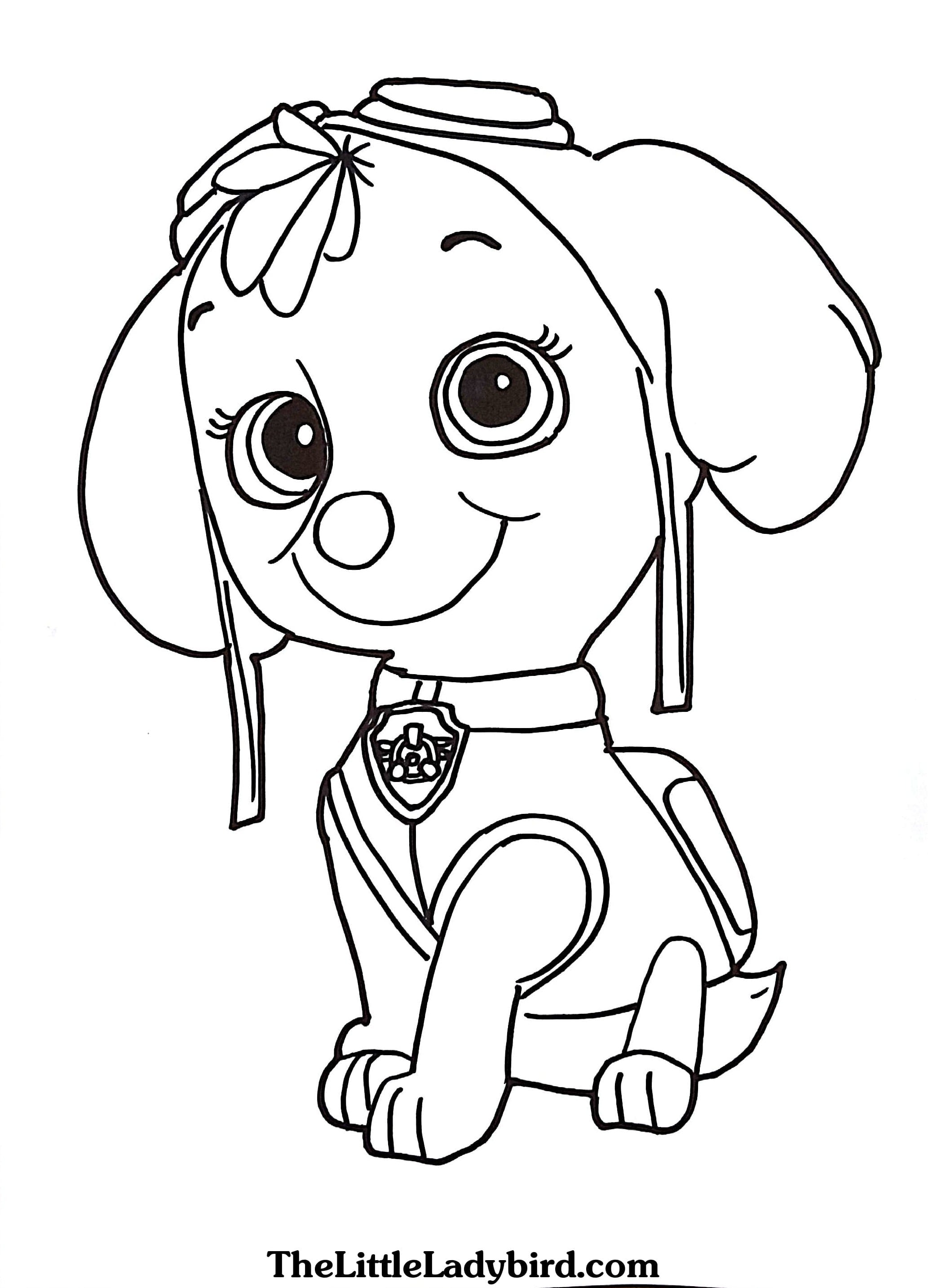 Free Paw Patrol Coloring Pages Coloriage Pat Patrouille 6 Jpg 1000