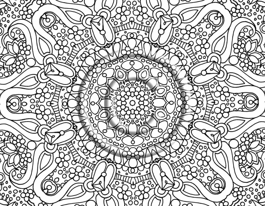 Free Coloring Pages For Adults Printable 4creative Co Throughout