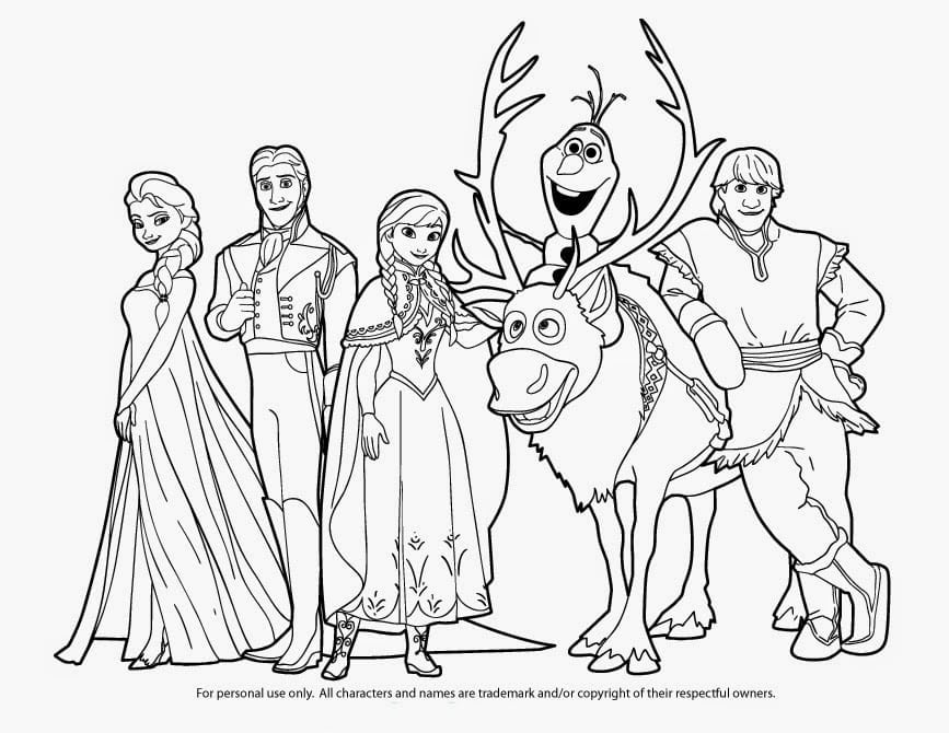 Free Printable Coloring Pages Of Elsa From Frozen Frozen Coloring