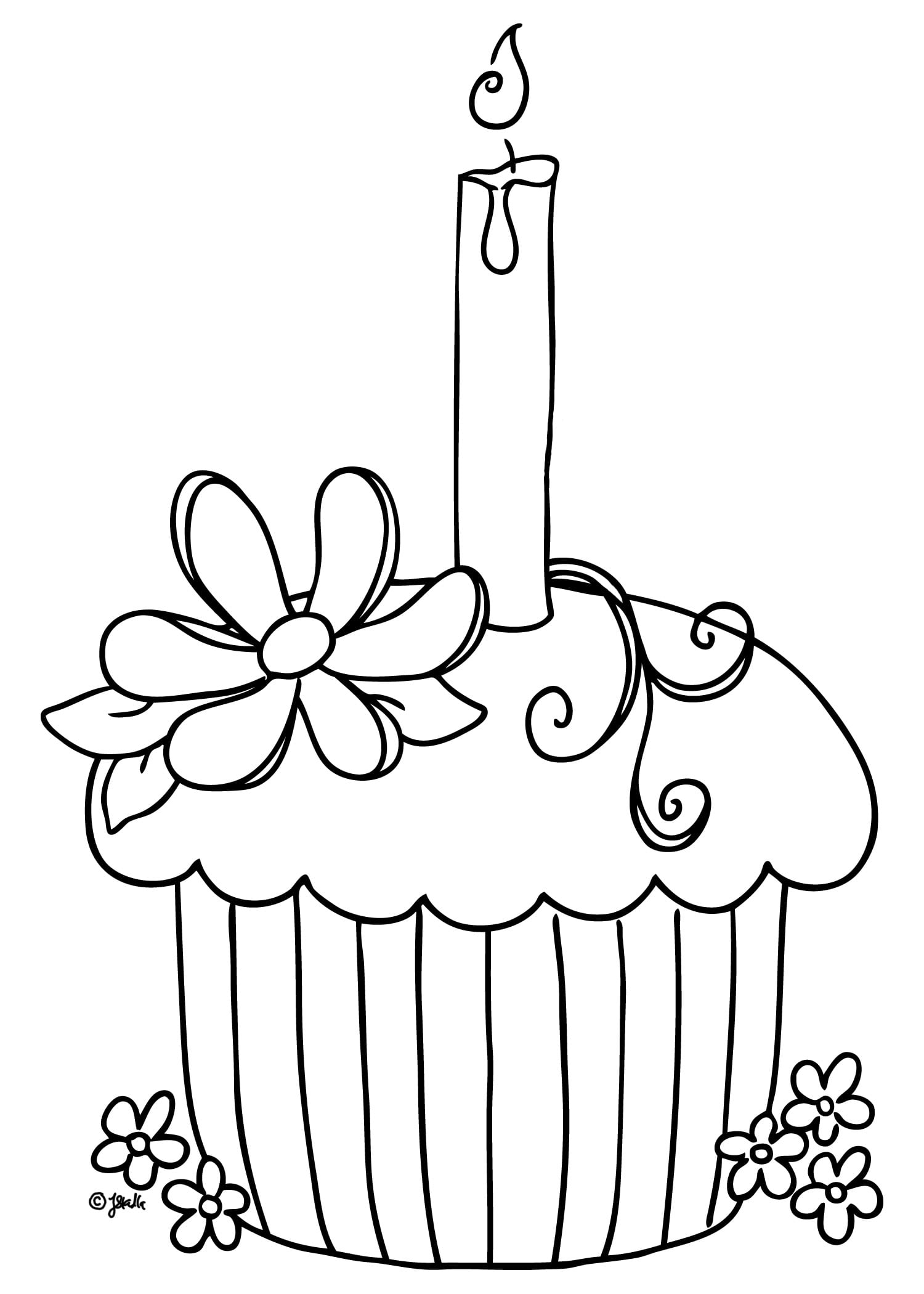 Free Printable Cupcake Coloring Pages For Kids Inside