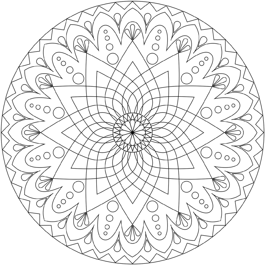 Free Printable Mandala Coloring Pages 97 With Free Printable