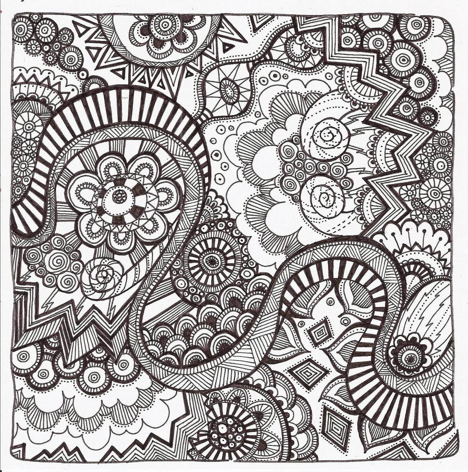 Free Zentangle Coloring Pages Printable For Adults And