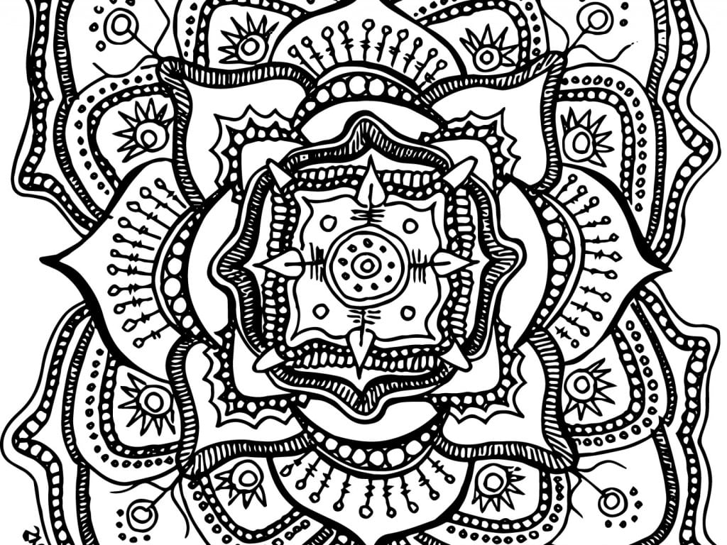 Full Free Mandala Coloring Pages For Adults Printables Printable