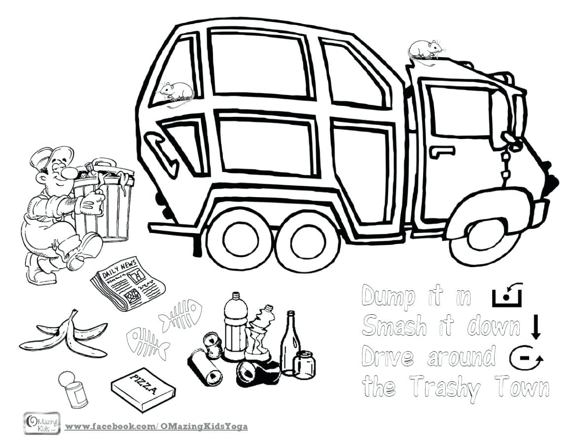 Garbage Truck Drawing At Getdrawings Com