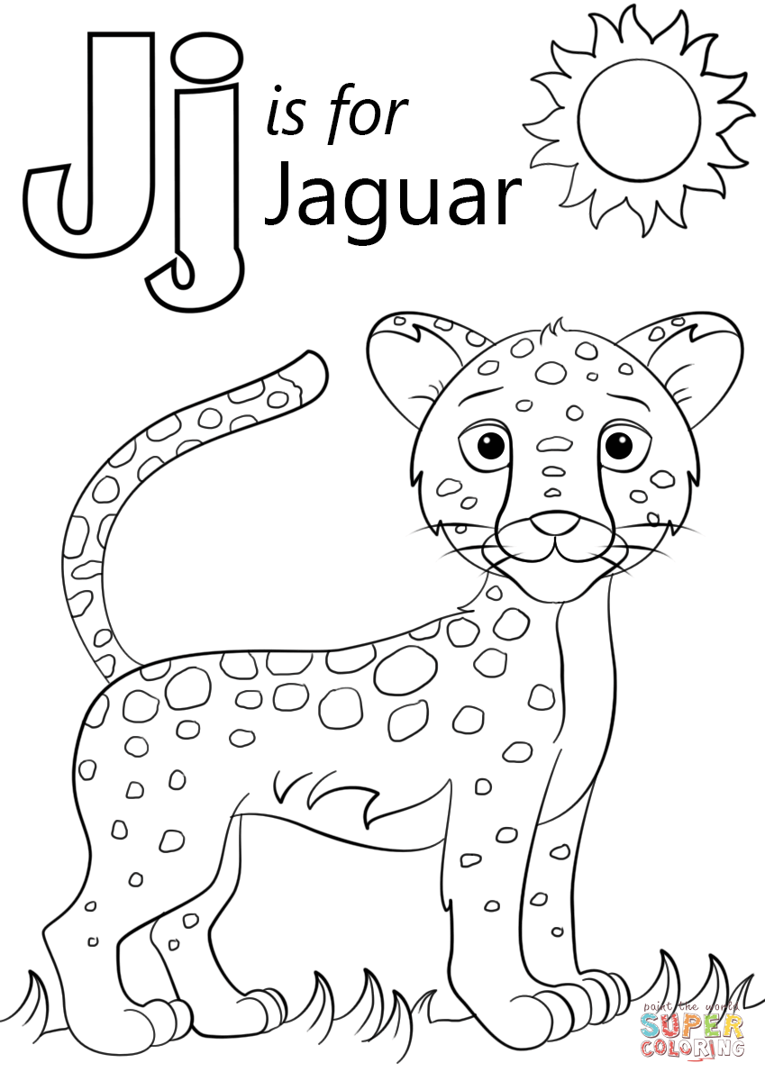 Genuine Color With Letter J Is For Jaguar Colo  16517
