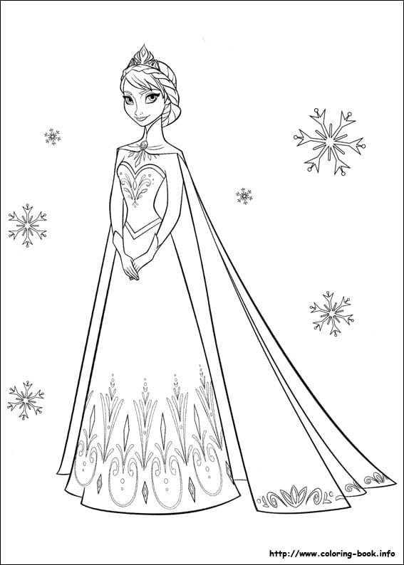 Glamorous Elsa Coloring Book Printable In Amusing Frozen Coloring