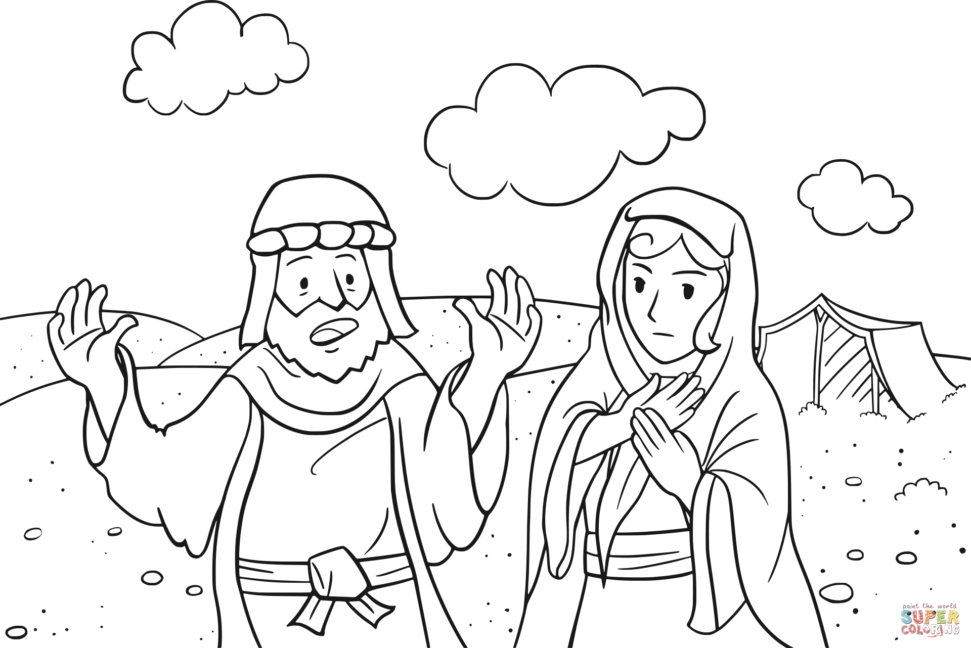 God Coloring Pages Abram Is Called By Page Free Printable For