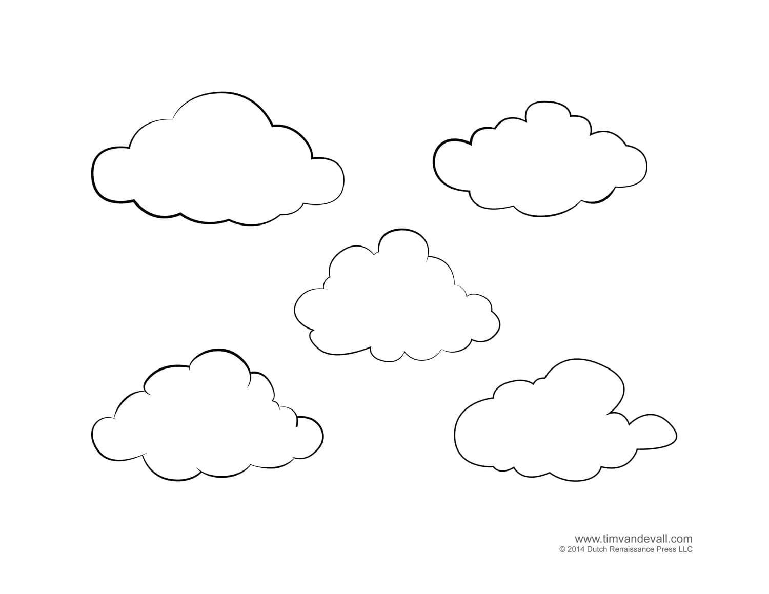 God Made The Clouds And Rain Coloring Page Cloudy Weather