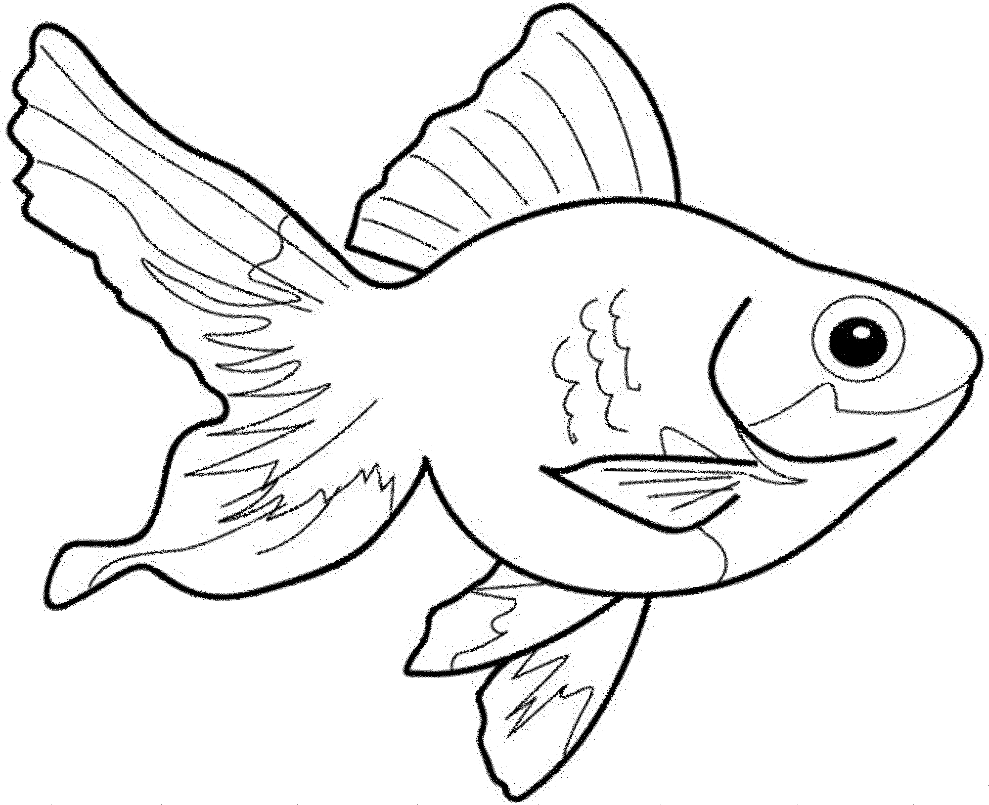 Goldfish Coloring Page Impressive 26 606 At