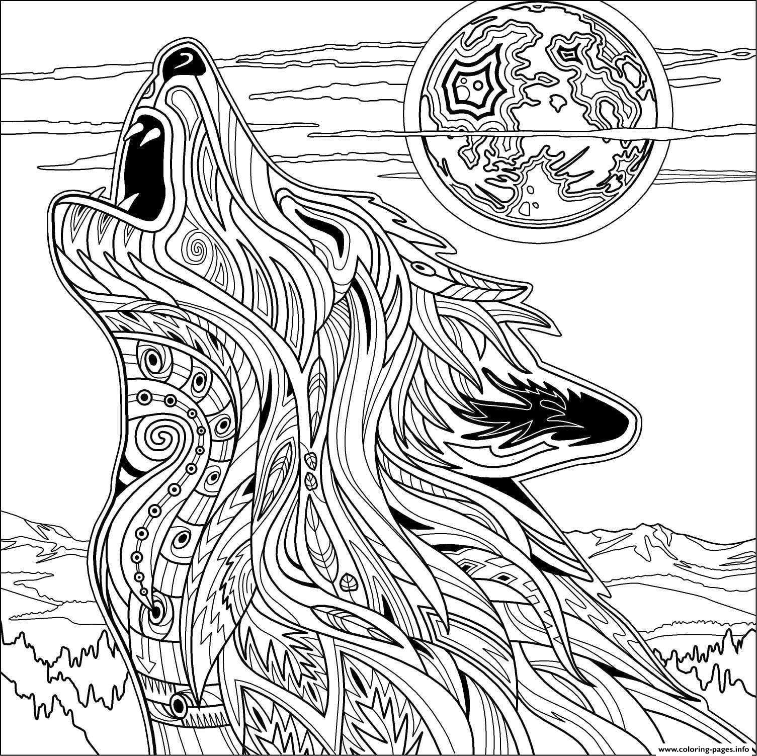 Elegant Wolf Coloring Page 24 For Gallery Coloring Ideas With Wolf