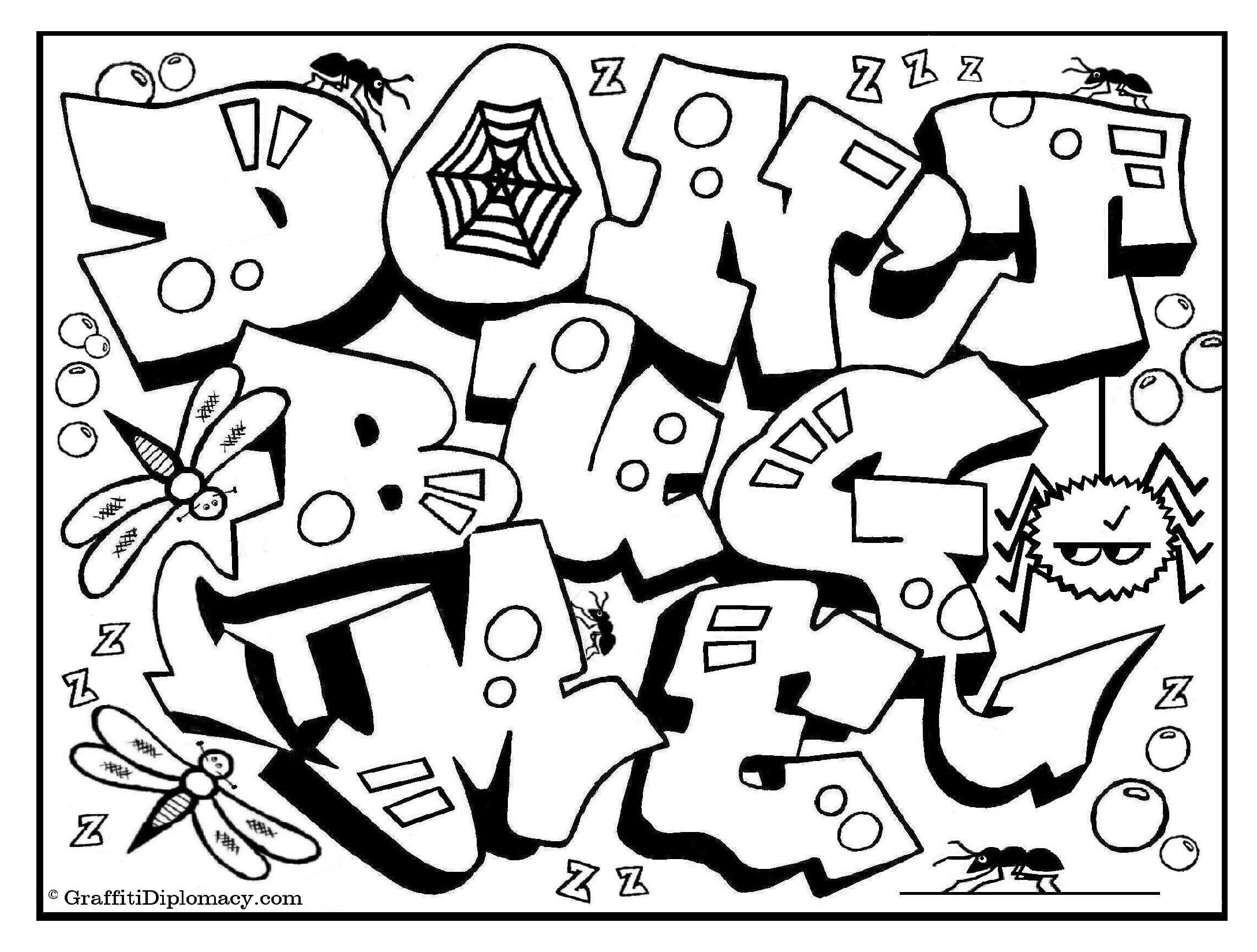 Graffiti Coloring Book Because Y S A Crooked Letter By Ripping