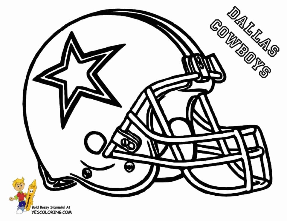 Great Football Helmet Coloring Pages 17 With Additional Download