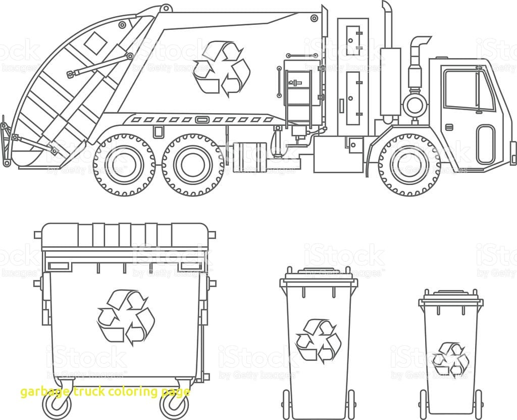 Great Garbage Truck Coloring Page Coloring In Amusing Garbage