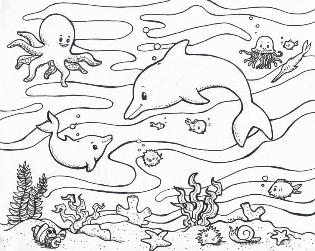 Great Under The Sea Coloring Page Best Coloring Pages  1644