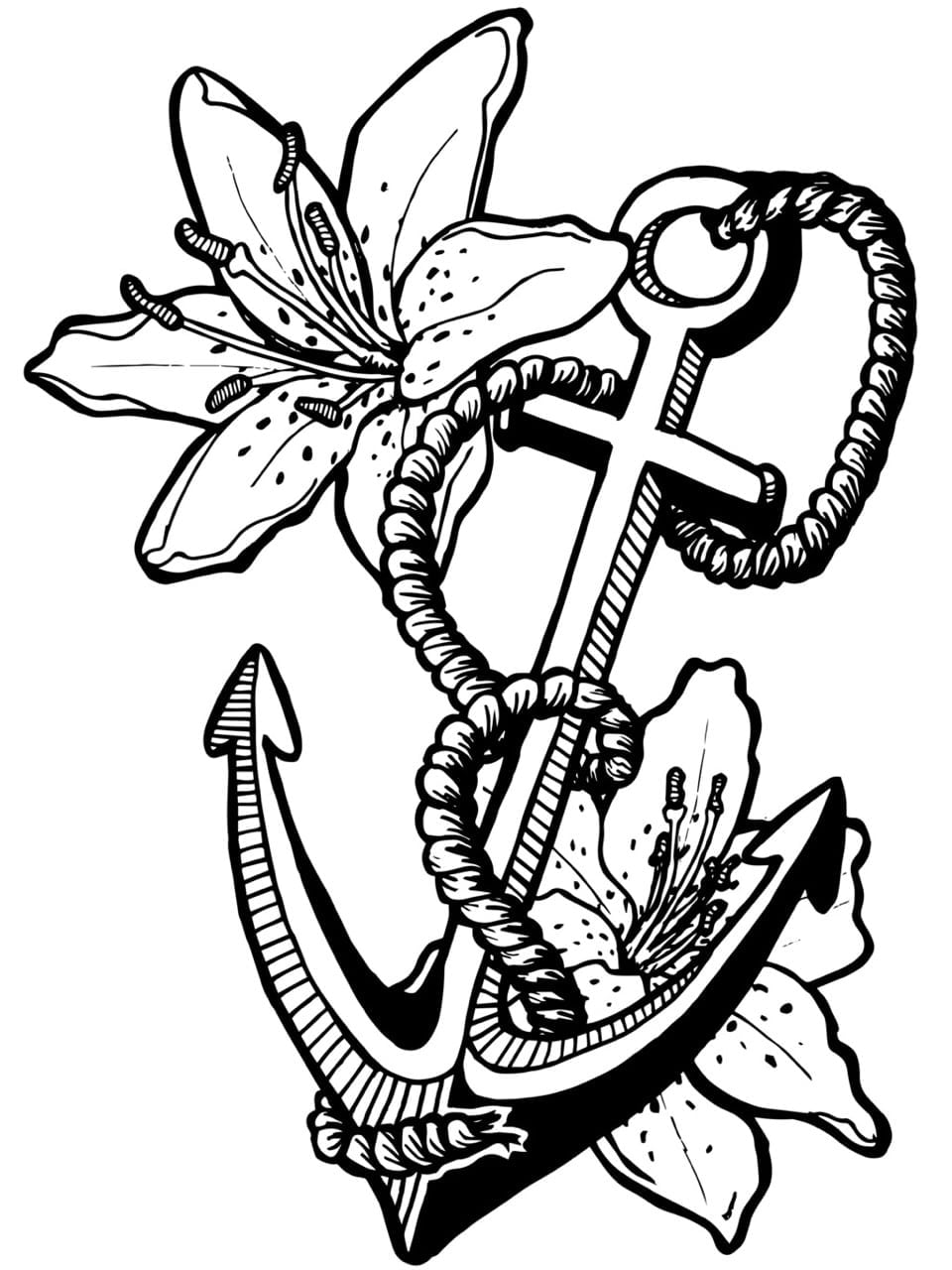 Greatest Coloring Pages Of Anchors Cute Anchor  6189