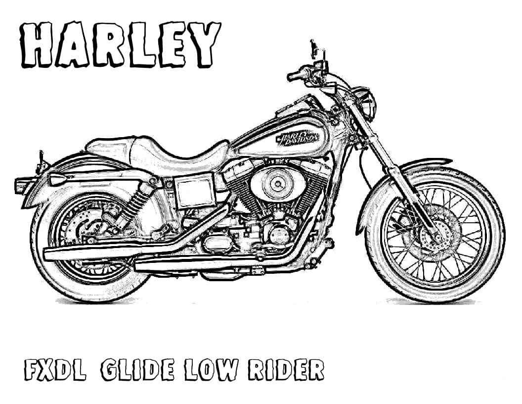 Growth Printable Harley Davidson Coloring Pages  6887