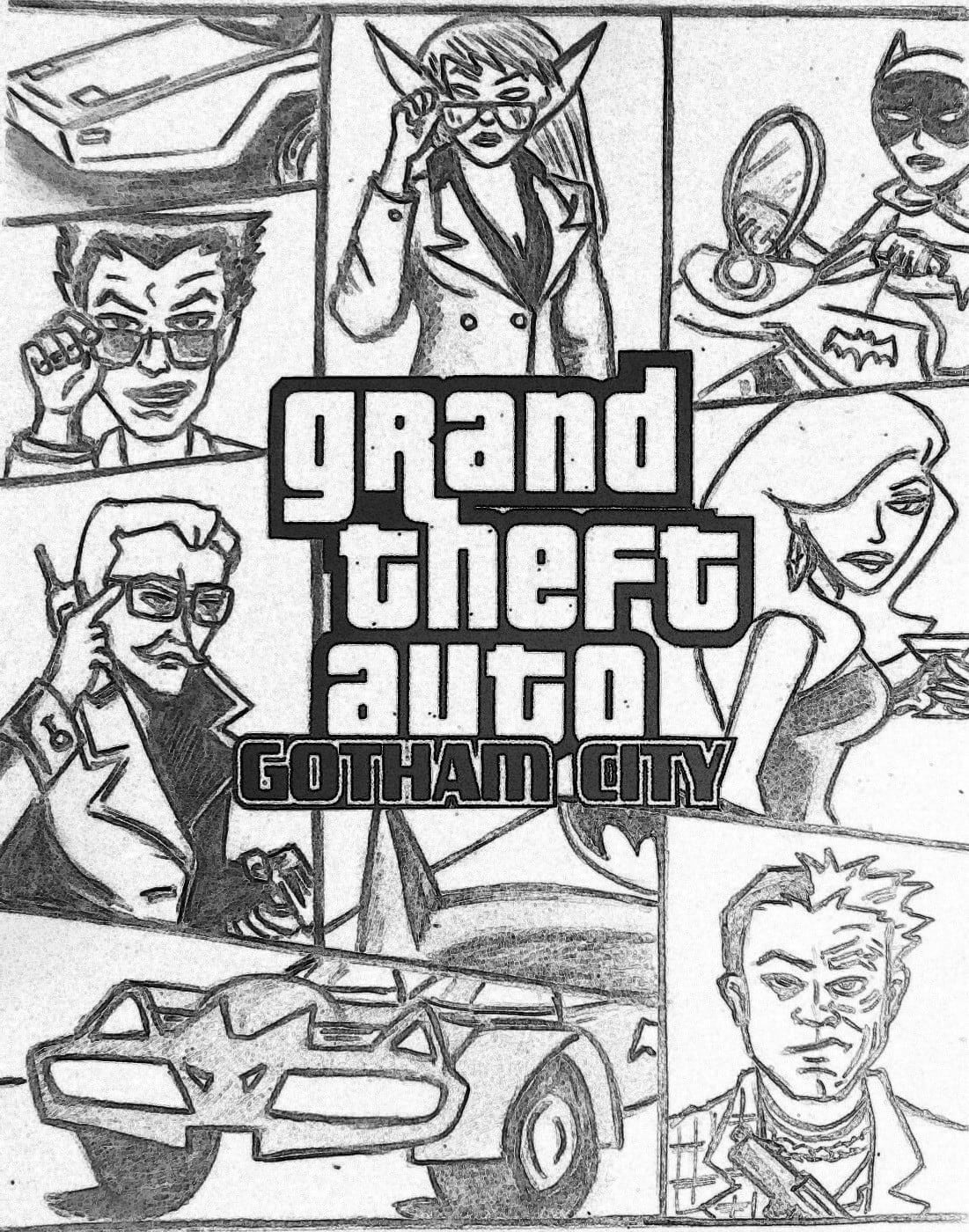 Gta 5 Logo Colouring Pages 16 V Coloring