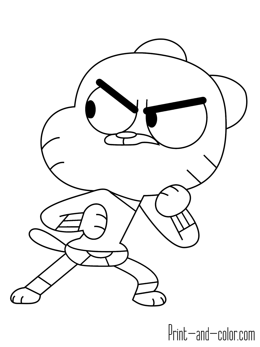 Gumball Coloring Pages