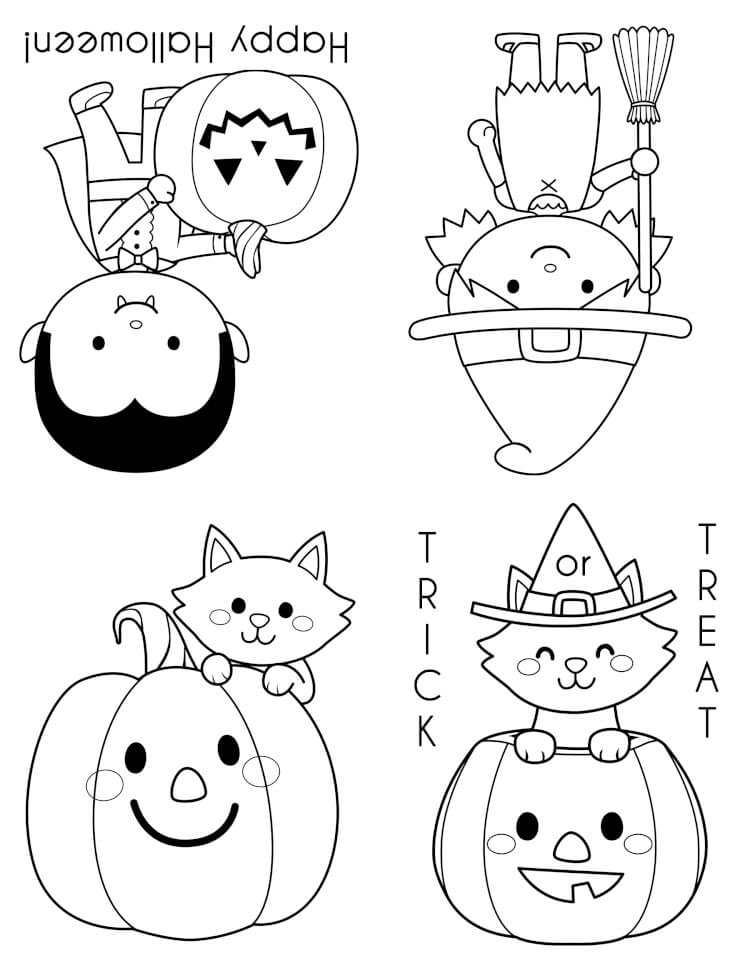 Old Fashioned Halloween Coloring Book Photos