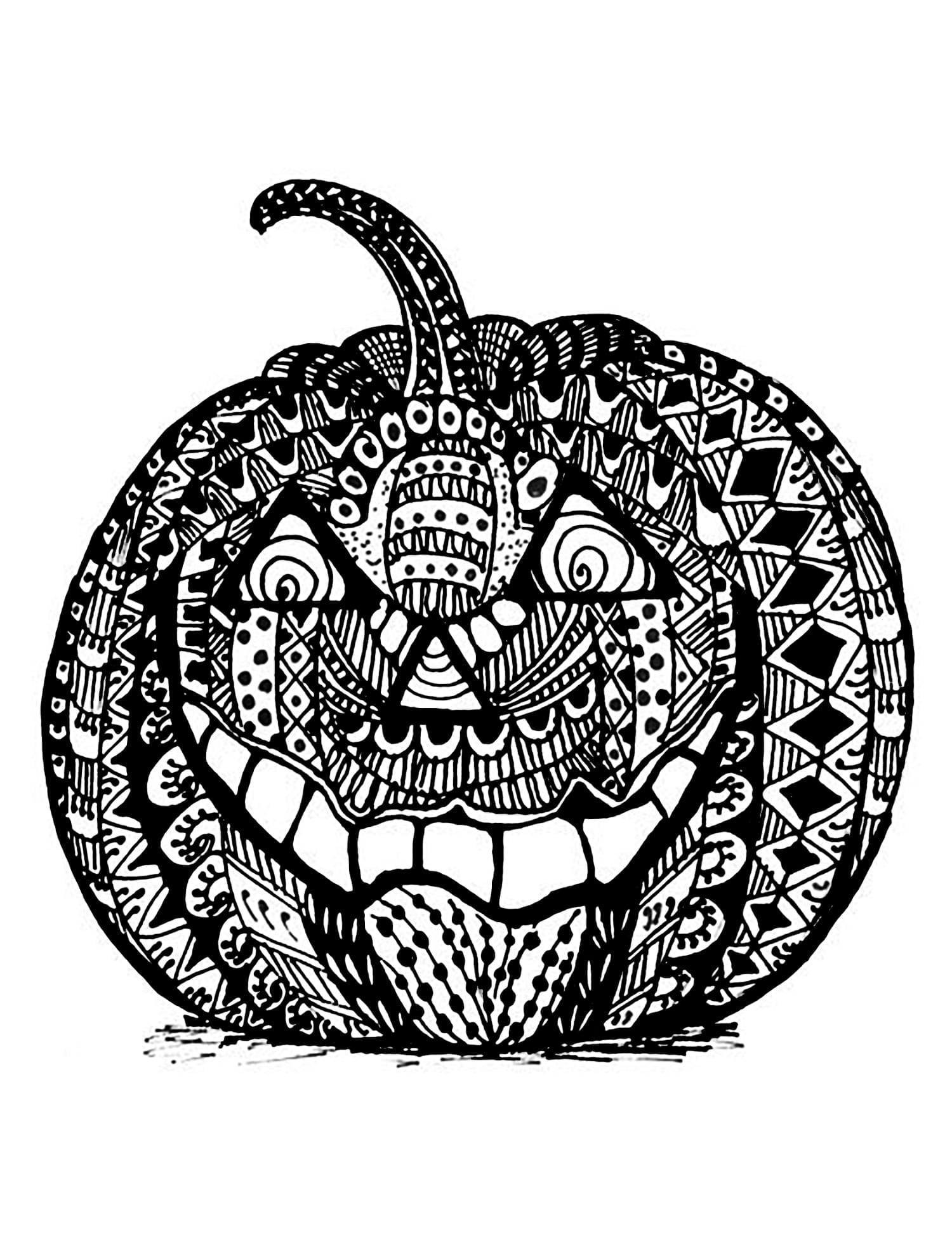 Halloween Coloring Pages For Adults Justcolor Throughout Adult