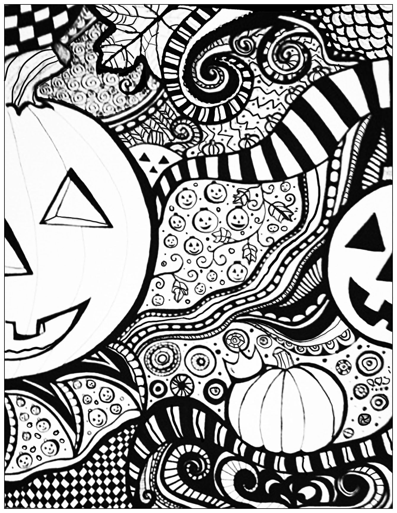 Halloween Coloring Pages For Adults Sheet Justcolor With