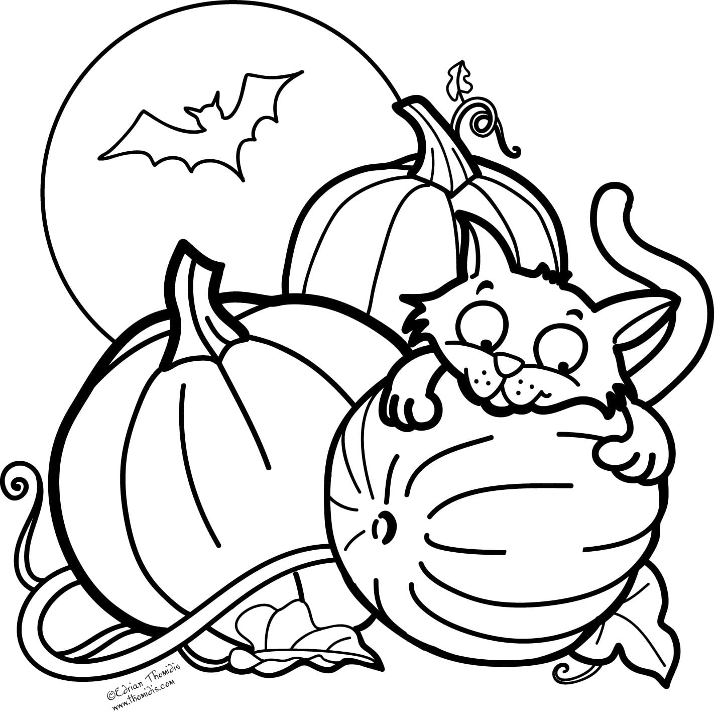 Cute Halloween Coloring Pages Coloringsuite Com Within Printable