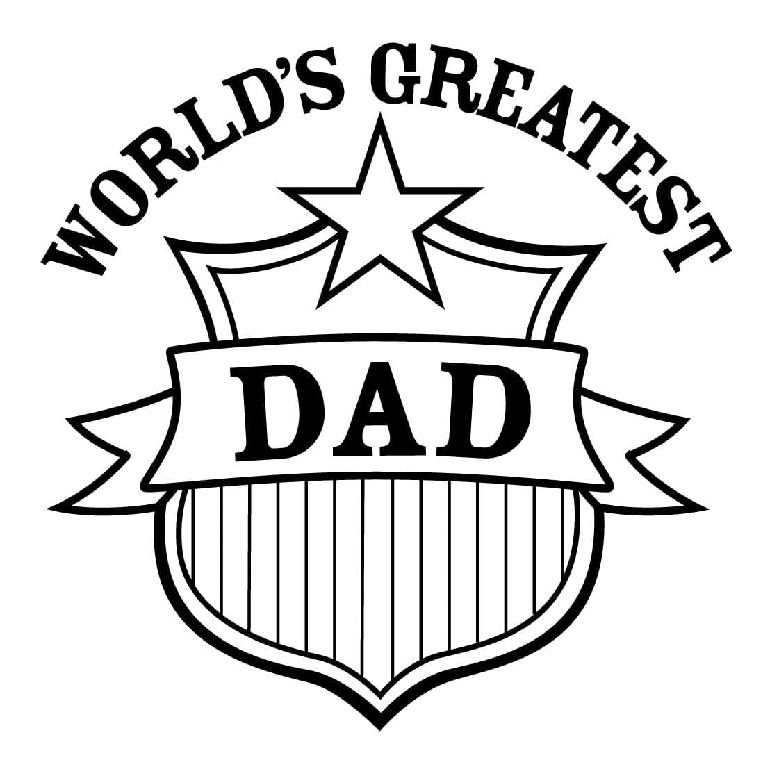 Happy Birthday Dad Coloring Cards Www Topsimages Com