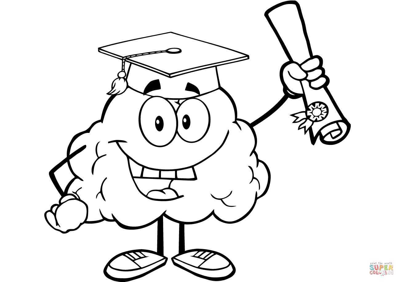 Brain Coloring Page Coloring Pages Within