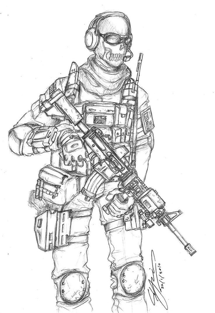 Happy Call Of Duty Coloring Page Pages Collection For Kids 2018  18140