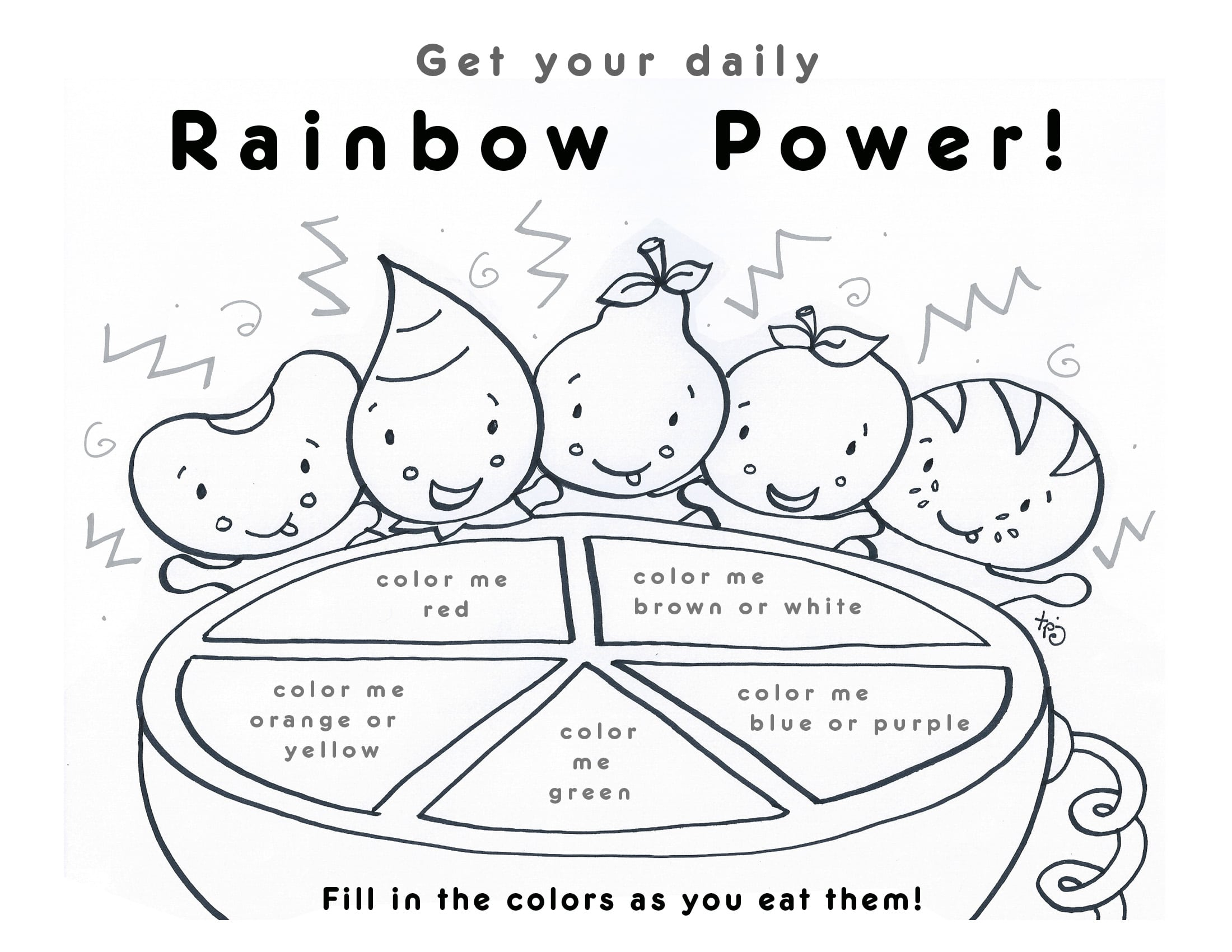 Printable Healthy Eating Chart Coloring Pages Happiness Is Best Of