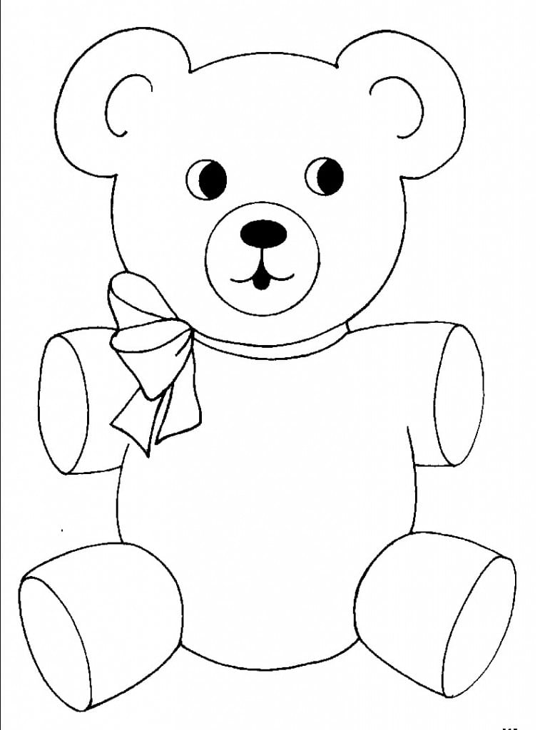 Interesting Teddy Bear Coloring Pictures Coloring In Fancy Teddy