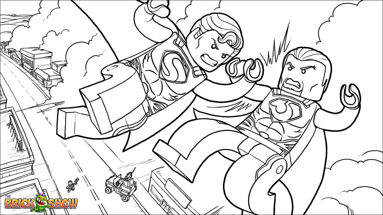 Hero Coloring Pages Super Lego Dc Universe Heroes With