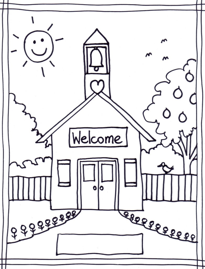 Homely Ideas School Coloring Pages Printable To Print For