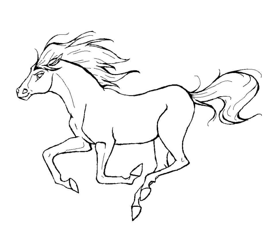 Coloring Page Animal Coloring Page Horse